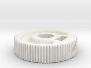 MIJ JM/Jag Roller knob - Groove pattern in White Natural Versatile Plastic