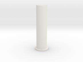 Heptagonal Domino Pin (Print 1) in White Natural Versatile Plastic