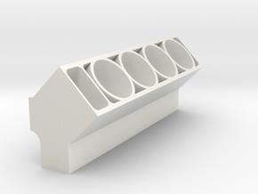 Engine Block (Half) in White Natural Versatile Plastic