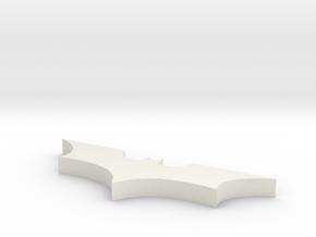 Batman Necklace Silver in White Natural Versatile Plastic
