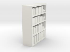 Bookcase for scale 1:72 in White Natural Versatile Plastic