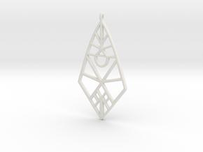 Triculuss in White Natural Versatile Plastic