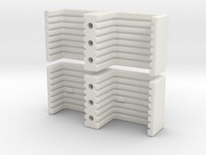 Bar Stock Clamp in White Natural Versatile Plastic