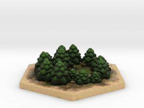 Catan_forest_hexagon in Full Color Sandstone