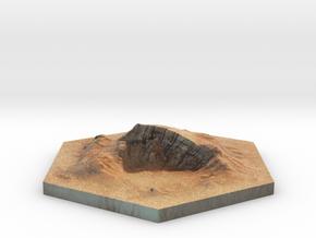 catan_desert_hexagon in Full Color Sandstone