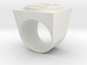 Green lantern ring in White Natural Versatile Plastic