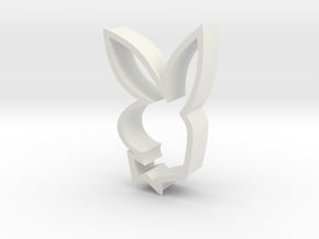 Iconic Bunny in White Natural Versatile Plastic