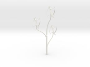 Windmill_treeSMALL in White Natural Versatile Plastic