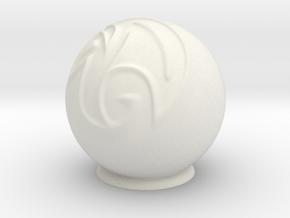 maya_ball in White Natural Versatile Plastic