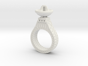 Parabora Ring 02 in White Natural Versatile Plastic