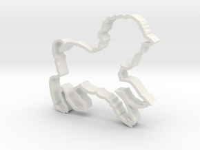 Large Lamb Cookie Cutter in White Natural Versatile Plastic