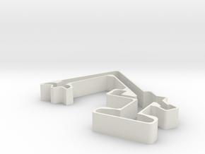 880EQ Cookie Cutter in White Natural Versatile Plastic
