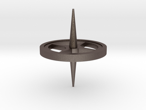 Gyroscope part 1 in Polished Bronzed Silver Steel