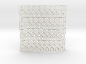 Screen 001 in White Natural Versatile Plastic