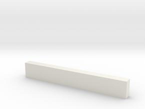 "8'0"" Wooden Crossbeam in White Natural Versatile Plastic"