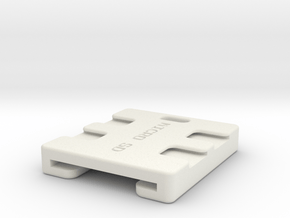 SD and Micro SD Key Fob in White Natural Versatile Plastic