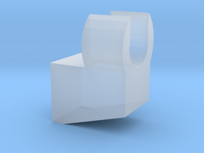 Slanted Clip with flat in Smooth Fine Detail Plastic