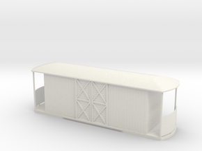 On30 Freight Tramcar  in White Natural Versatile Plastic