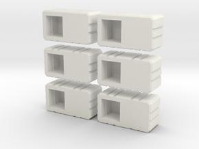 Combiner Twin Sockets in White Natural Versatile Plastic