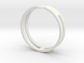 Customized Ring 1 in White Natural Versatile Plastic