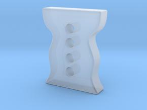 Designer button 5 in Smooth Fine Detail Plastic