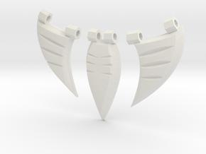 Ciondolo Tribale in White Natural Versatile Plastic