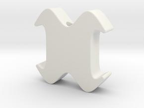 Designer Beads 1 in White Natural Versatile Plastic