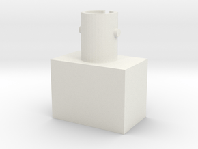 ST optical connector in White Natural Versatile Plastic