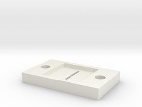 optical slit 0.5 in White Natural Versatile Plastic