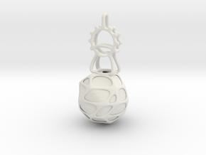 LED Pendant Ornament in White Natural Versatile Plastic