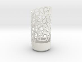 PI Light Poem in White Natural Versatile Plastic