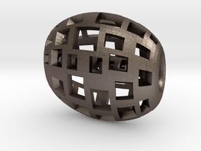 rollercube in Polished Bronzed Silver Steel