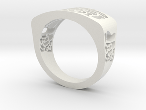 warpy ring in White Natural Versatile Plastic