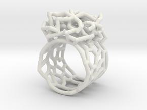 tangle21 in White Natural Versatile Plastic