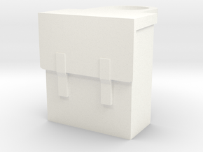 Backpack in White Processed Versatile Plastic