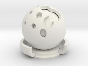luxball3 in White Natural Versatile Plastic