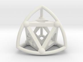 Tetrasphere (poker) in White Natural Versatile Plastic