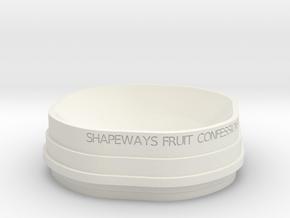 Fruit Bowl test 1 in White Natural Versatile Plastic