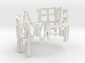 Ring Poem test1 in White Natural Versatile Plastic