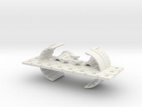 Zyphon Man-of-War Class Battleship in White Natural Versatile Plastic