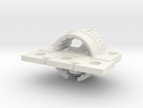 Zyphon Moon Class Frigate in White Natural Versatile Plastic