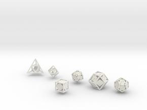 """""""Open"""" dice set: 6 dice! in White Natural Versatile Plastic"""