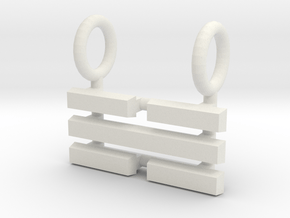 I Ching Trigram Pendant - K'an Upper in White Natural Versatile Plastic
