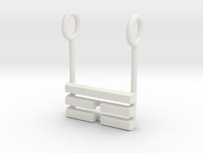 I Ching Trigram Pendant - Ken Lower in White Natural Versatile Plastic