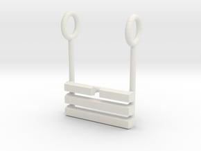 I Ching Trigram Pendant - Tui Lower in White Natural Versatile Plastic