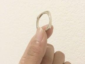 Zen Ring Size 10.5 in 14k White Gold