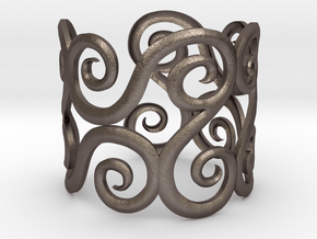 antique in Polished Bronzed Silver Steel