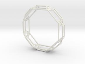 Interconnected Stones Bangle in White Natural Versatile Plastic