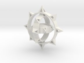 Sun Keychain Variation m2 in White Natural Versatile Plastic