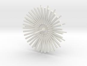Academy Starship in White Natural Versatile Plastic